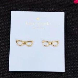 Kate Spade Lookout Goreski Glasses Studs Earrings